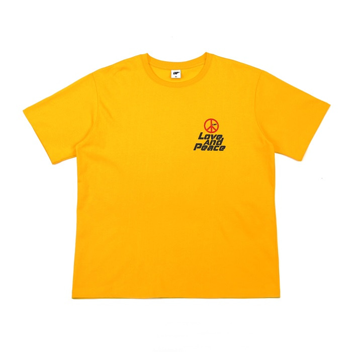 LOVE AND PEACE T-SHIRT_YELLOW