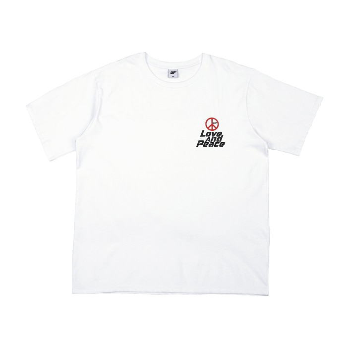 LOVE AND PEACE T-SHIRT_WHITE