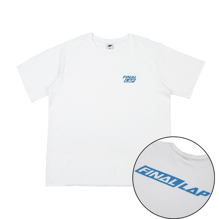 FINAL LAP LOGO T-SHIRT_WHITE