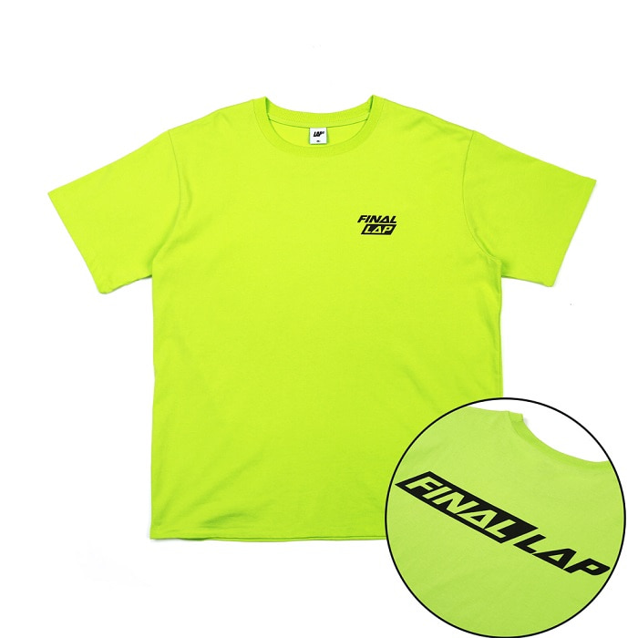 FINAL LAP LOGO T-SHIRT_LIME